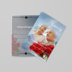 Decent Funeral Program Template Stylish