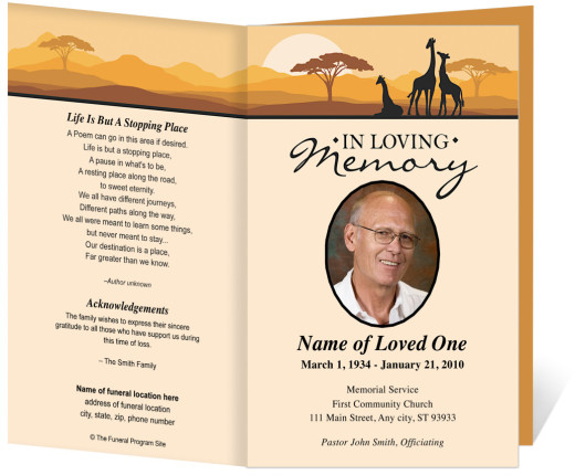 Funeral Program for Father