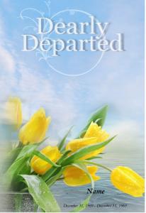 Footprints Word Funeral Program Template