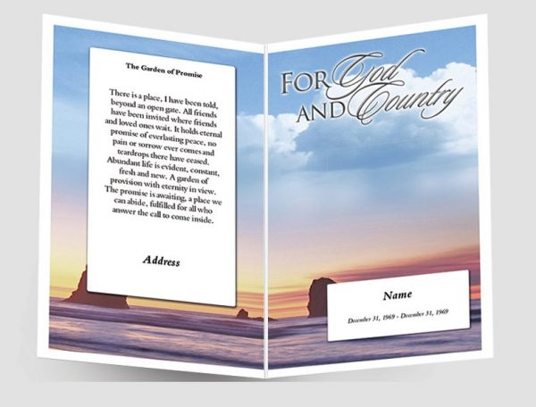 Front Promise Funeral Program Template