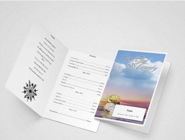 Garden of Promise Funeral Program Template
