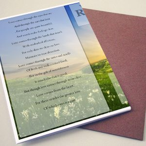 Back Pink Lack Funeral Program Template