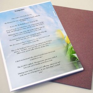 Back Footprints Funeral Program Template