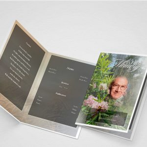Creeper Funeral Program Template
