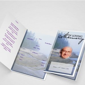Main Afterglow Funeral Program Template