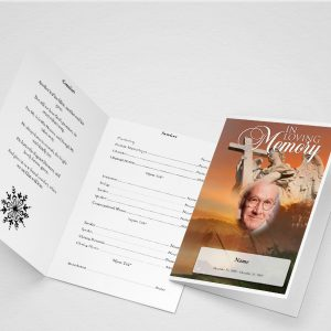 Main Spangle Funeral Program Template