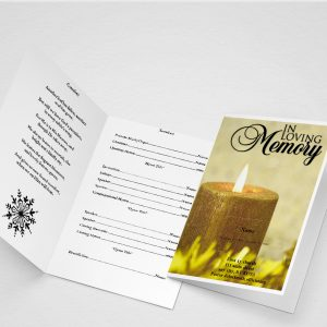 Main Blue Sky Funeral Program Template