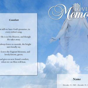 Front Comfort Funeral Program