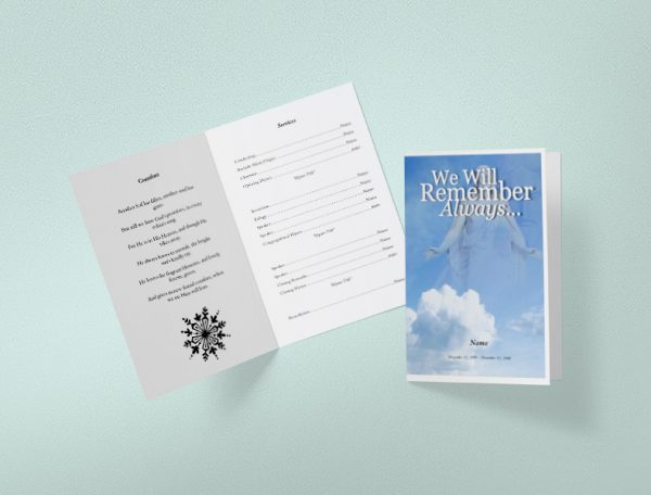 Main Crossing Funeral Program Template