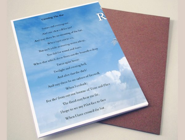 Back Crossing Funeral Program Template