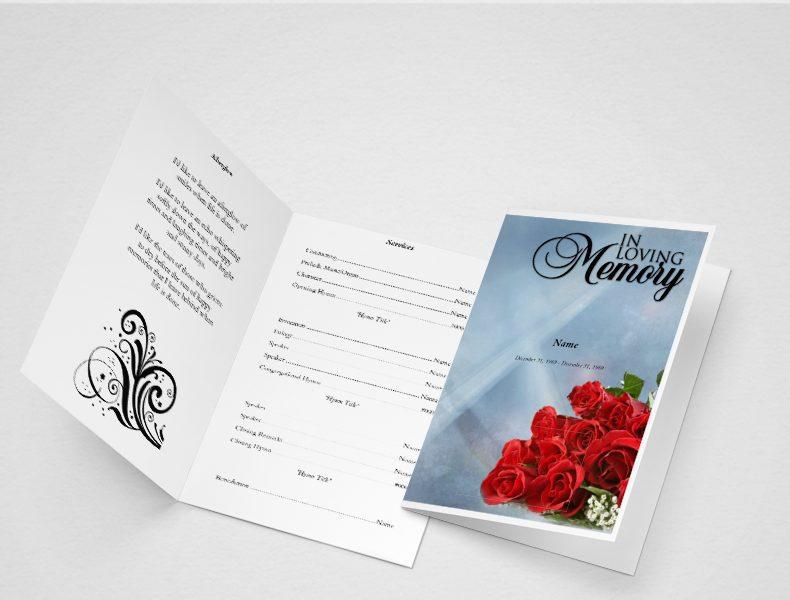 create an obituary program