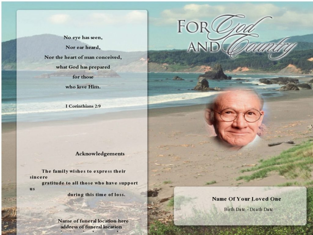 Elegant Funeral Program Template