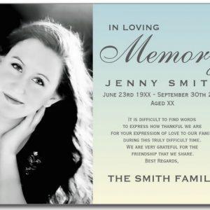 Blank Funeral Prayer Card Template