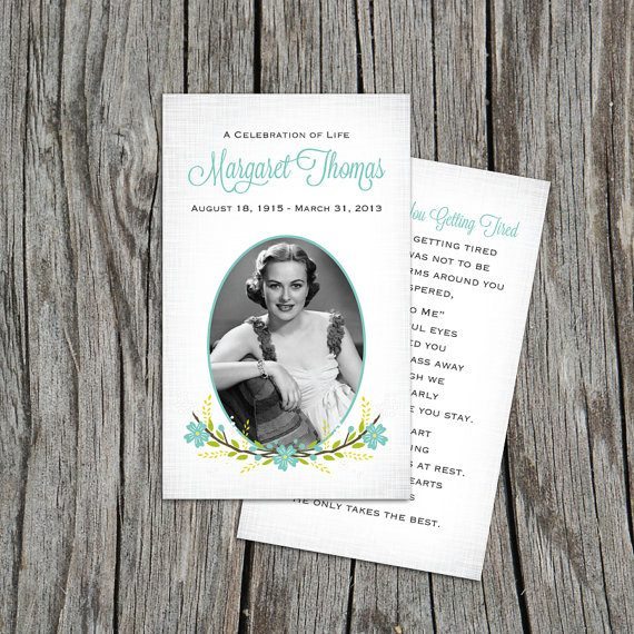 funeral prayer cards template