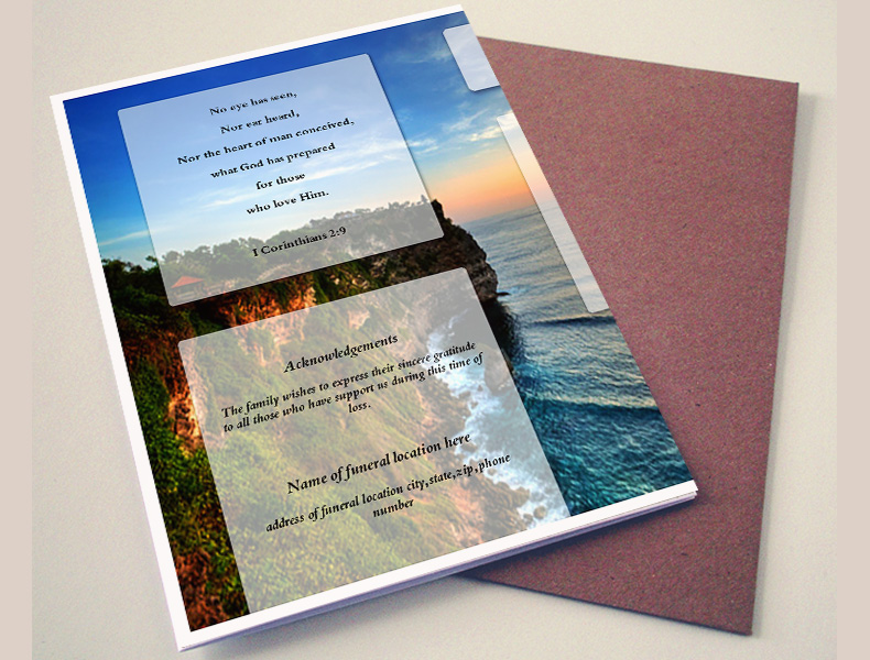 Printable Funeral Programs Back