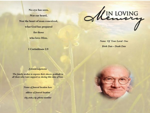Brown Funeral Program