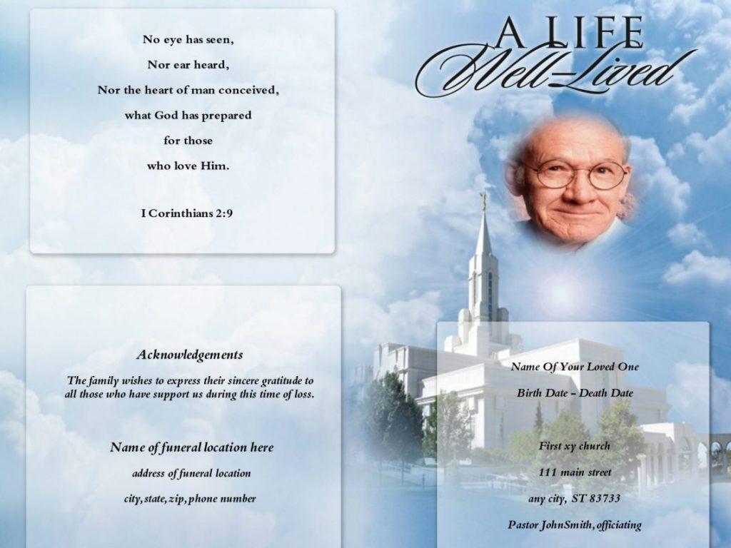 Memorial Service Invitations