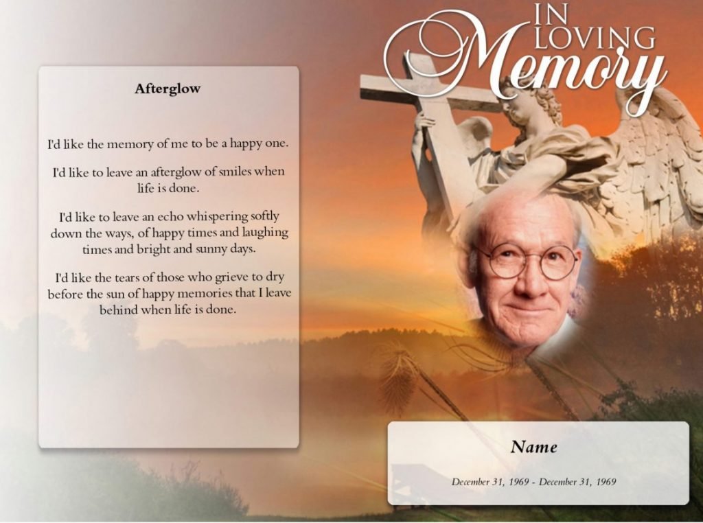 Funeral Program booklet
