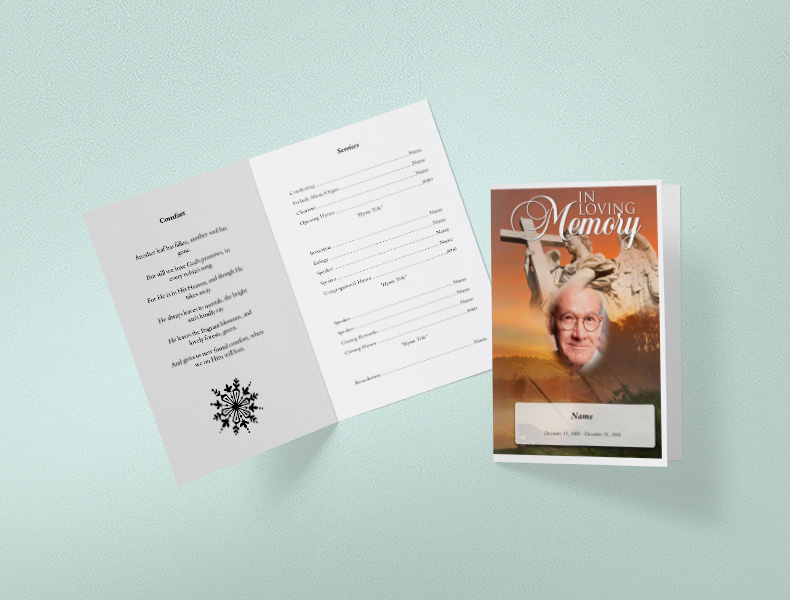 Funeral Program booklet mock