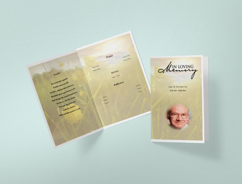 Download Funeral Program Templates