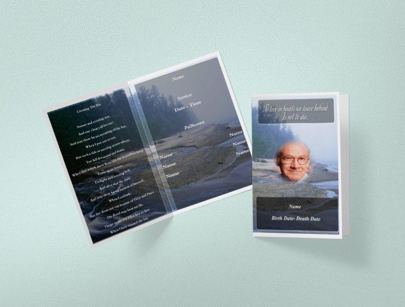 Large funeral program booklets