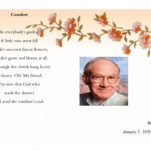 Front Blossom Funeral Template