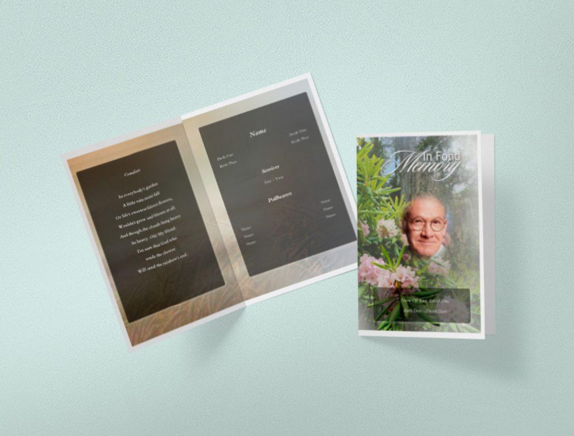 Easy Funeral Programs