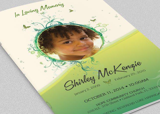 funeral programs for children