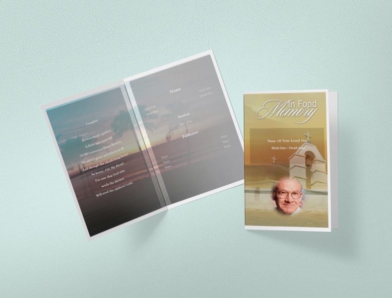 View Funeral Program Templates