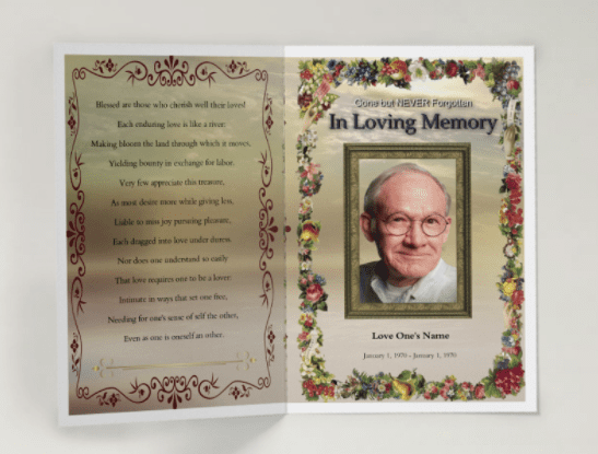 132 free funeral program template funeral program templates
