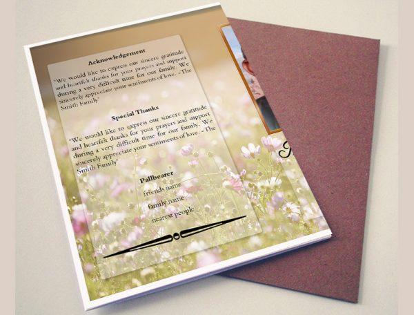 Simple Nature Printable Funeral Program