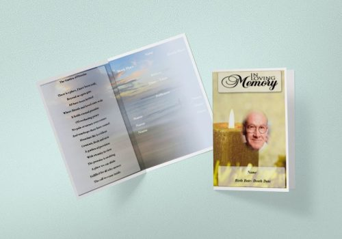 Four Page Funeral Programs
