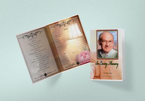 Printable Tabloid Funeral Program