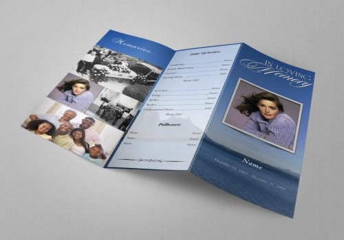 Printable Trifold Funeral Program