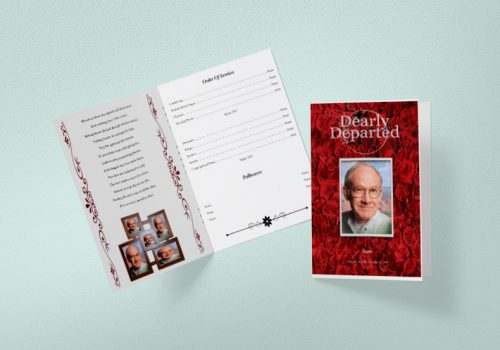 Tabloid Funeral Program