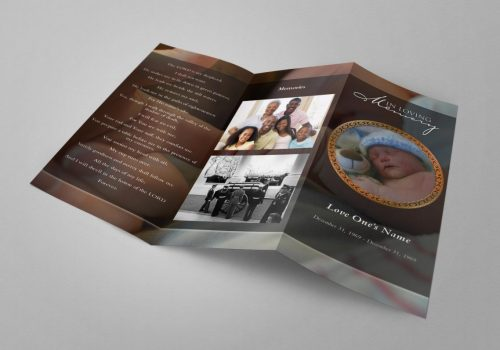 Trifold Free Funeral Program