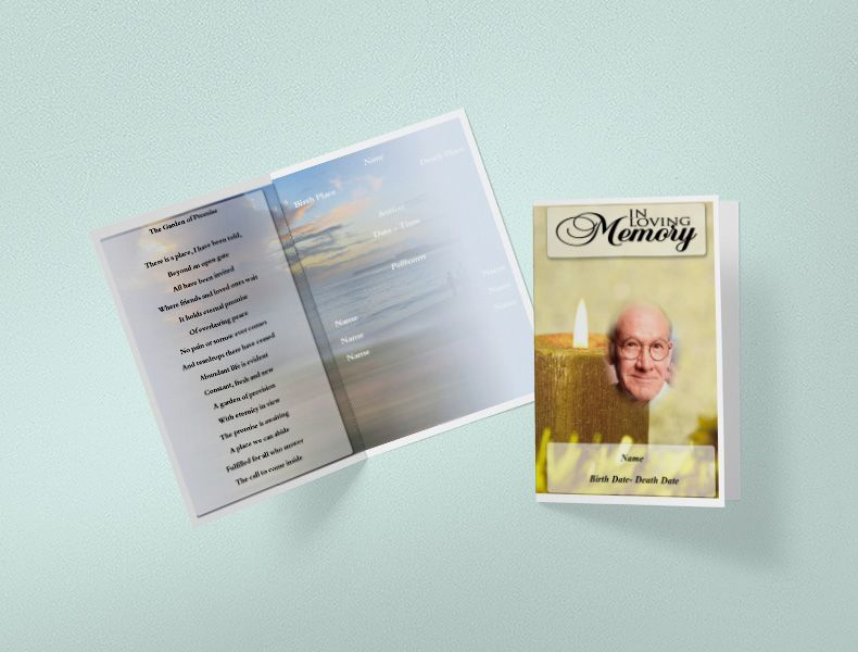 Free Funeral Program Template - Self Editable and Printable