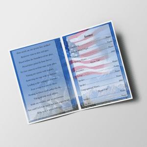 U.S Soldier Funeral Program Template