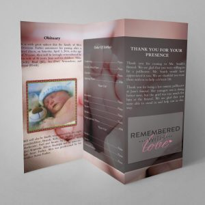 Infant Trifold Funeral Template