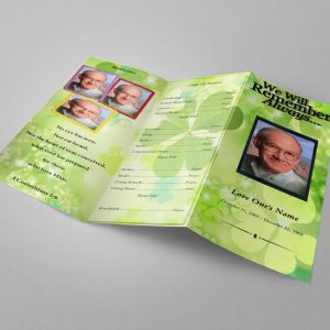 Irish Green Funeral Program Template