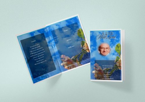 SELF EDITABLE FUNERAL PROGRAMS