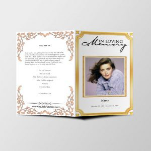 Golden Border Funeral Template