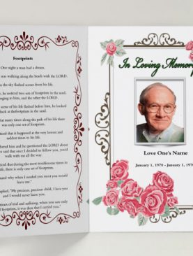 Pink Floral Funeral Template