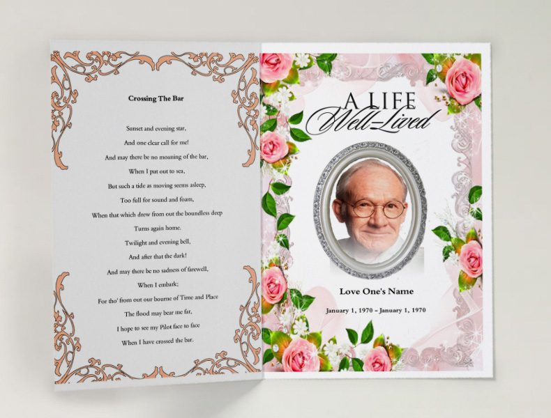 It is a photo of Simplicity Free Printable Funeral Programs