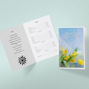 Footprint Funeral Program Template