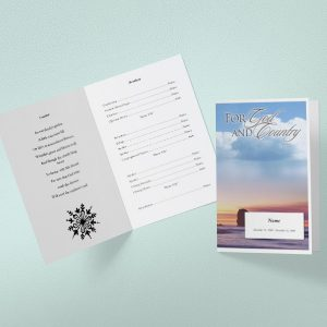 Aphorism Funeral Program Template