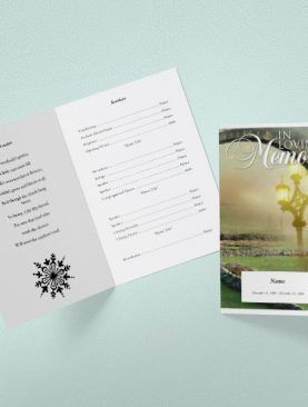 Welfare Funeral Program Template