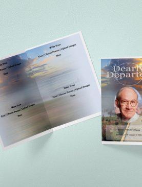 A Seedling Funeral Program Template