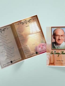Infant Tabloid Funeral Program Template