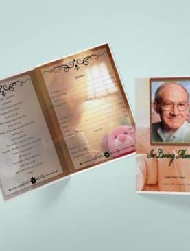 Infant Tabloid Funeral Program Template